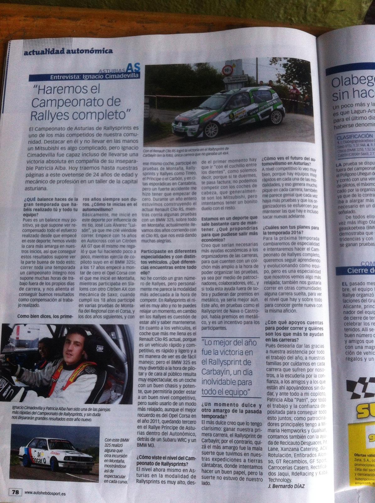 Entrevista al piloto Mimaría Acción Directa Nacho Cimadevilla