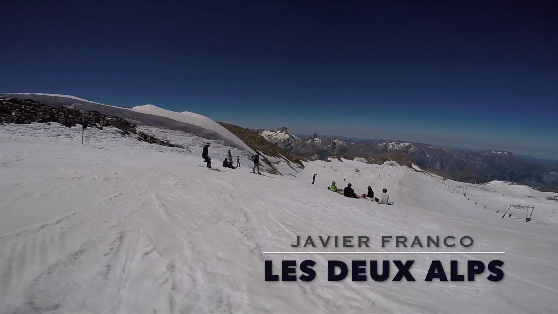 Viaje de Javier Franco a Les Deux Alps, verano 2016