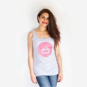 Camiseta para chica mimaría street photosynthesis de tirantes con logo negative fucsia