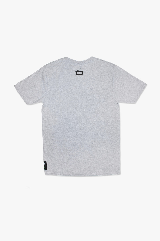 Camiseta mimaría hempworks color gris logo negro