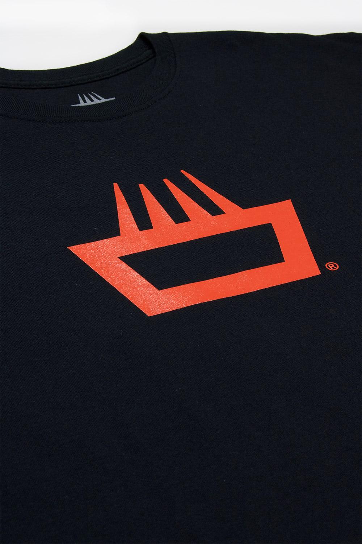 Camiseta mimaría orange in black color negro logo naranja jagger