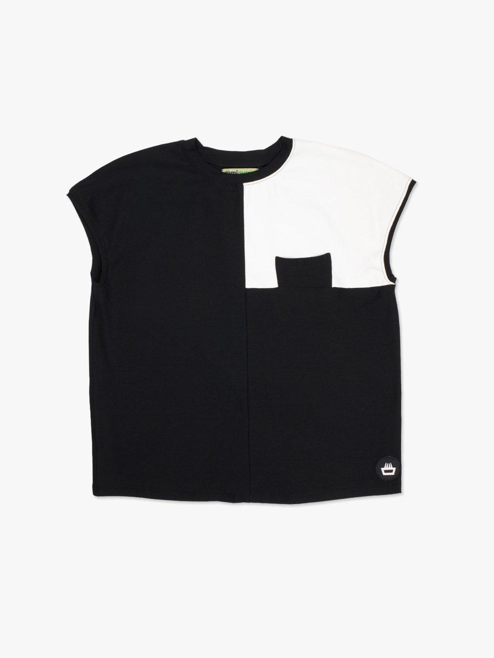 Camiseta para chica edición limitada diseño exclusivo mimaria hempworks modelo square fabricada a mano