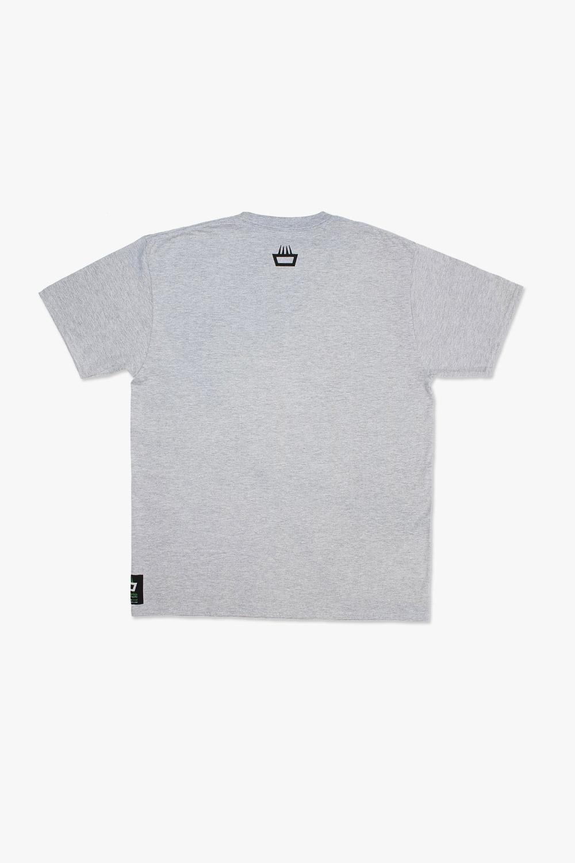 Camiseta mimaría hempworks color gris, detalle de la espalda