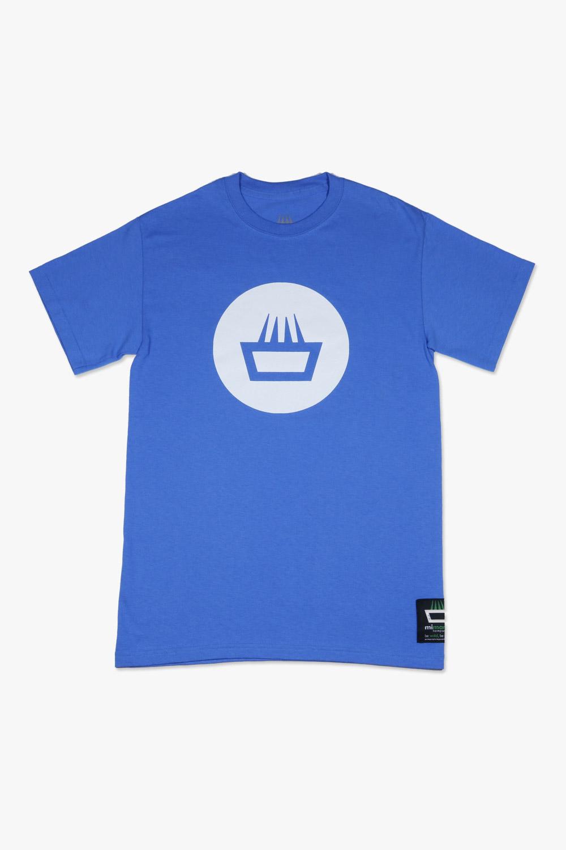 Camiseta mimaría negative color azul y logo blanco