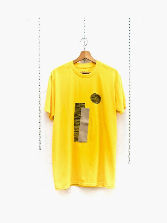 Camiseta mimaría hempworks CASTRO 01 de color amarillo en colaboración con el artista urbano SONEK Edición limitada