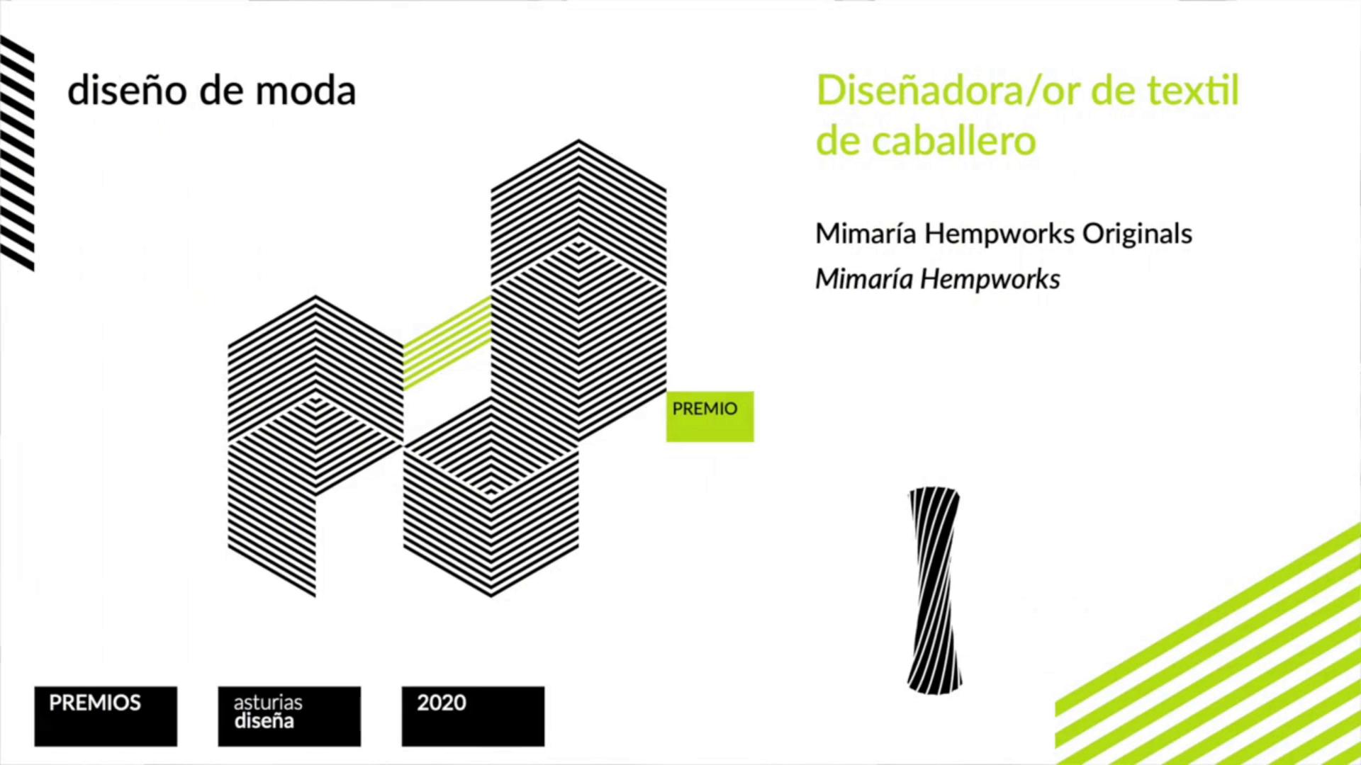 Premio diseño textil caballero - Asturias Diseña