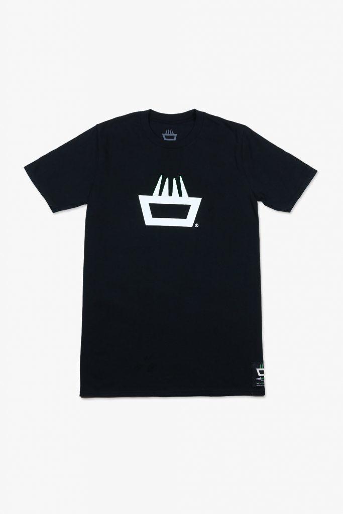 Camiseta mimaría hempworks classic color negro logo blanco